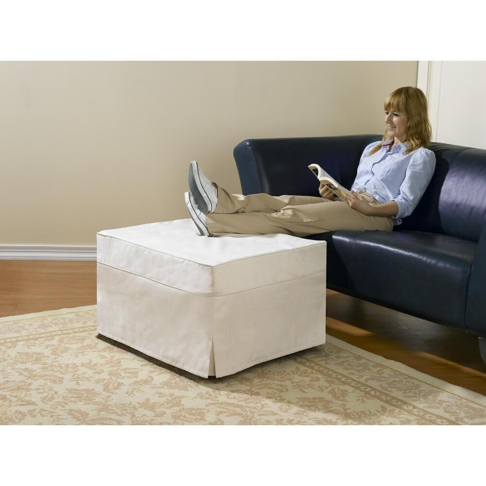Superb Folding Ottoman Sleeper Guest Bed Furniture And Accessories Machost Co Dining Chair Design Ideas Machostcouk