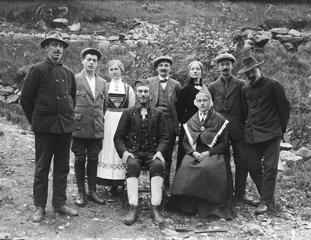 """""""Elskhug og giftarmål"""" by Fylkesarkivet i Sogn og Fjordane, via Flickr  Marriage, they all look so happy"""