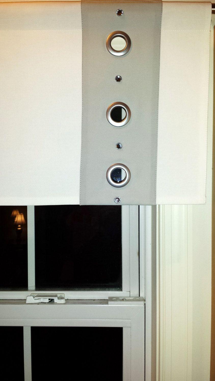 Kitchen window valance. Modern valance. White and gray valance ...
