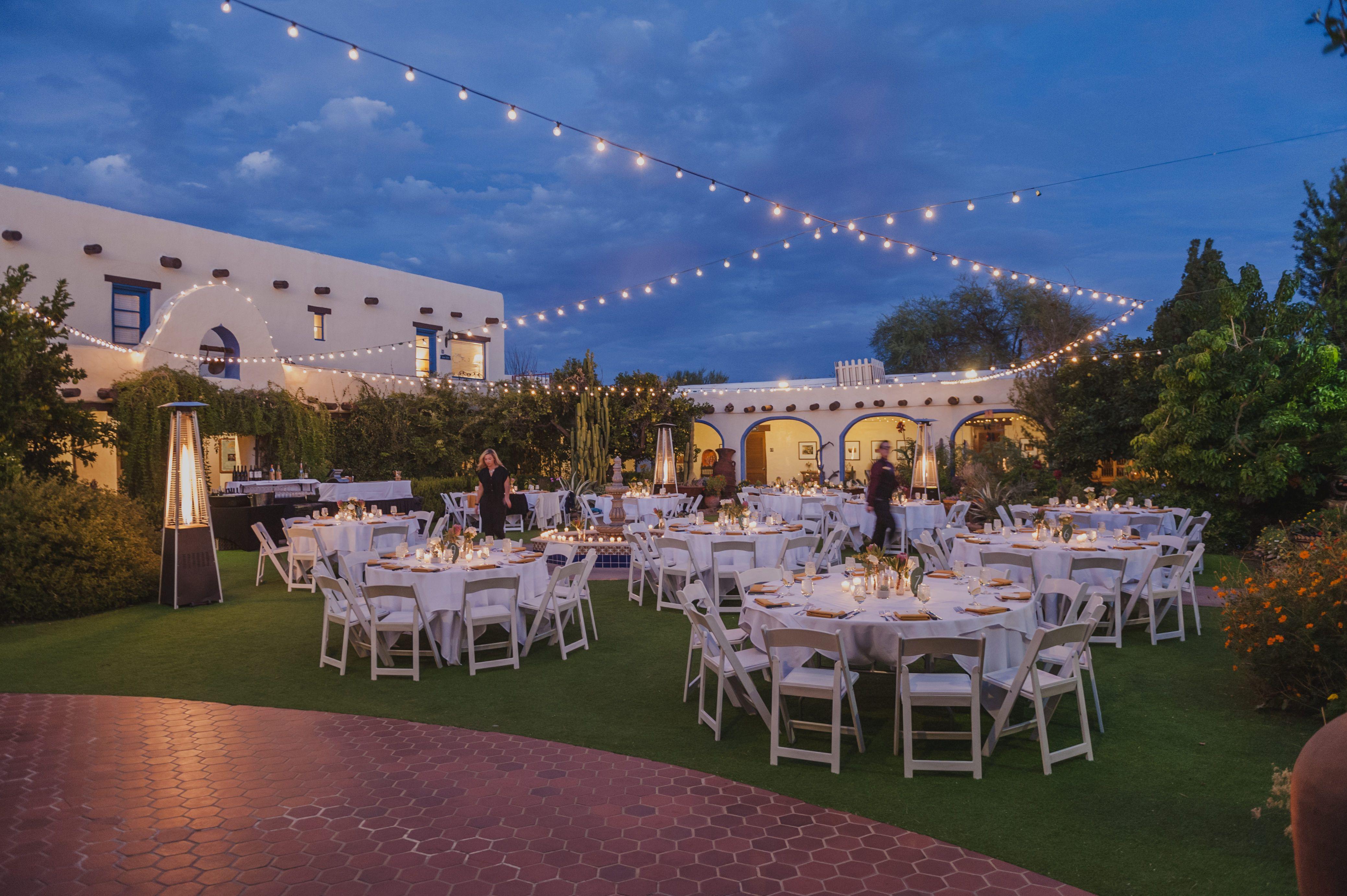 Inner Courtyard Wedding Tucson Wedding Venues Courtyard Wedding Celebrity Weddings
