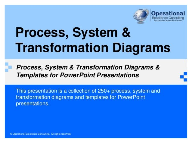 Process, System & Transformation Diagrams & Templates by