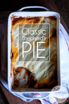 Classic Shepherd's Pie, but made with ground beef! Non-dairy, delicious and perfect for autumn!
