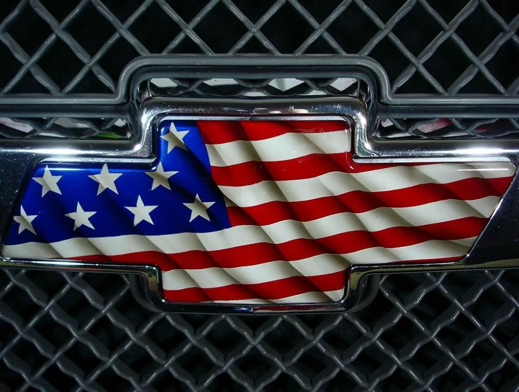 CHEVROLET BOWTIE AMERICAN FLAG HOT ROD MUSCLE CAR OFF ROAD 4X4 TRUCK STICKER
