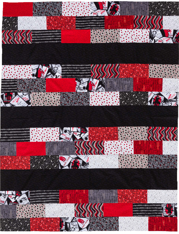 The easiest quilt pattern ever #jellyrollquilts