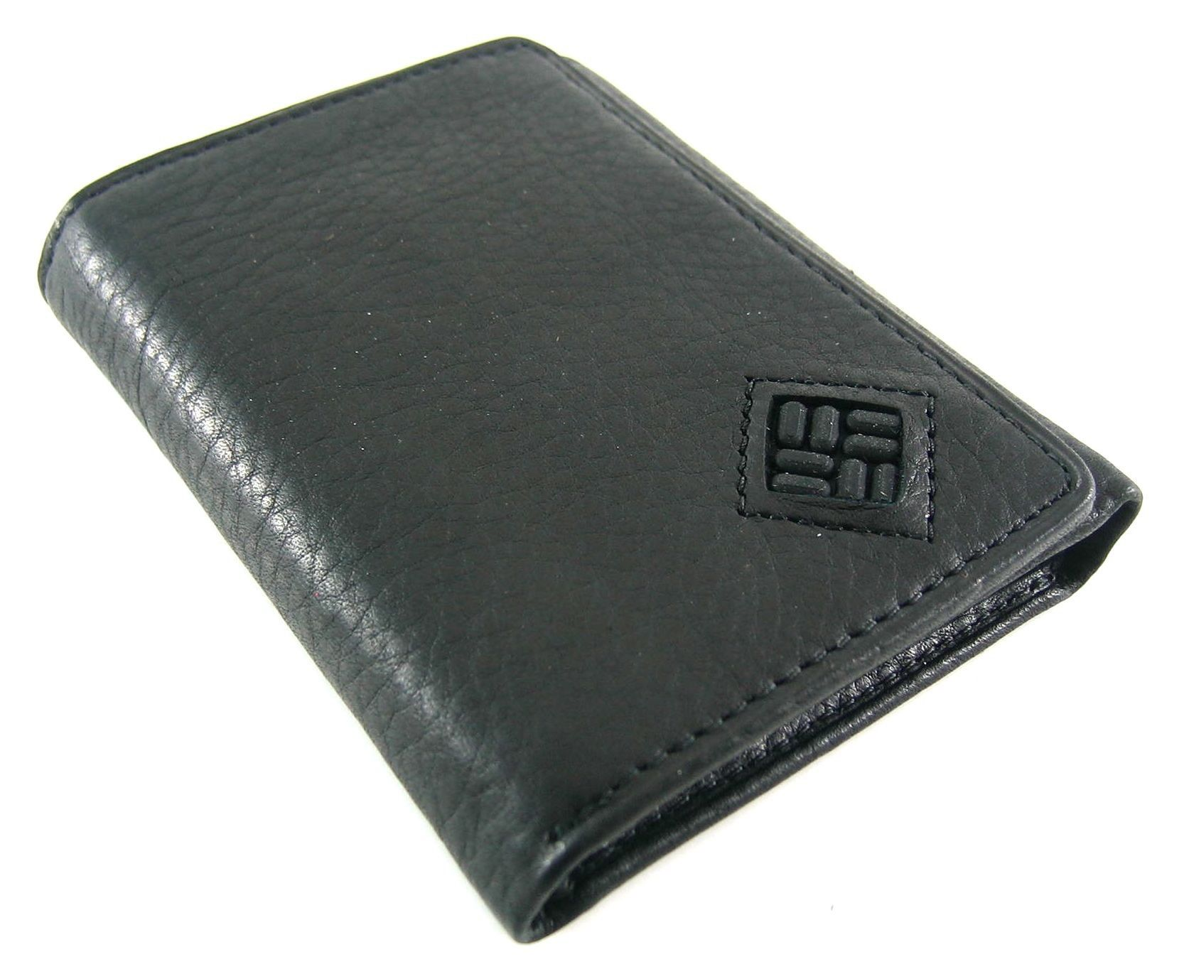 Columbia black leather endeavor trifold wallet wallet