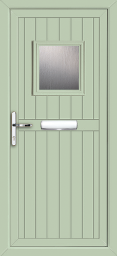 Anthracite Grey Glazed Upvc Front Door Coloured Upvc Doors Green Front Doors Grey Front Doors