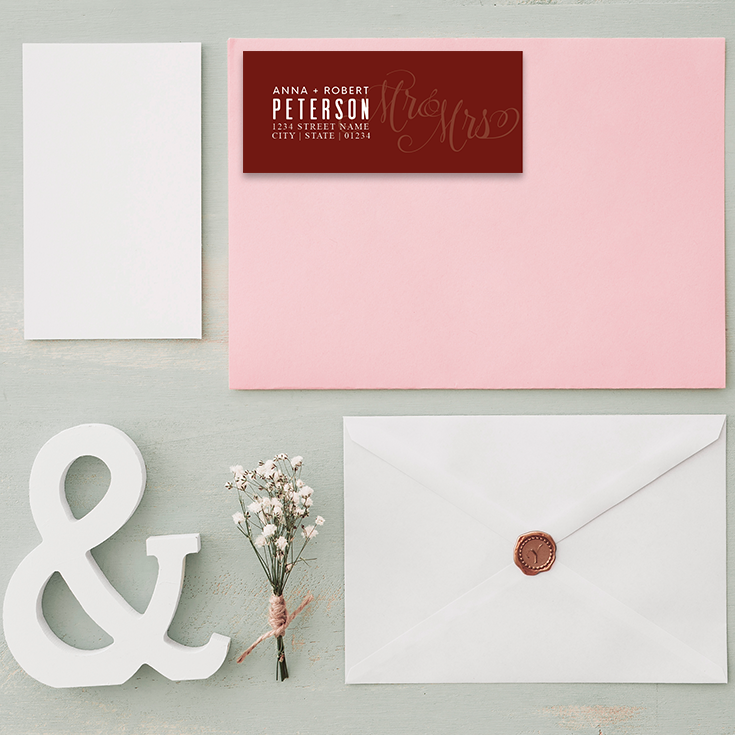 personalize your own address labels for all your wedding