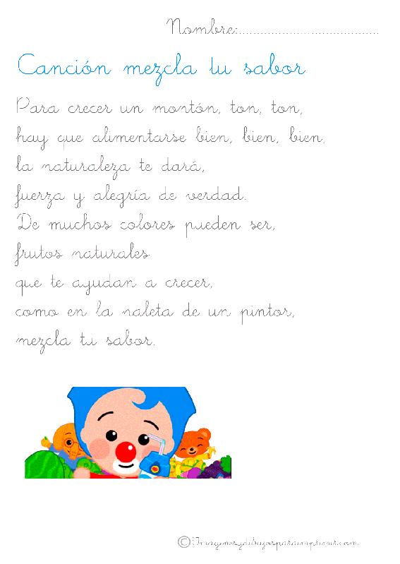 Canciones Infantiles Para Aprender Imagenes Y Dibujos Para Imprimir Canciones Infantiles Canciones Dibujos Para Imprimir