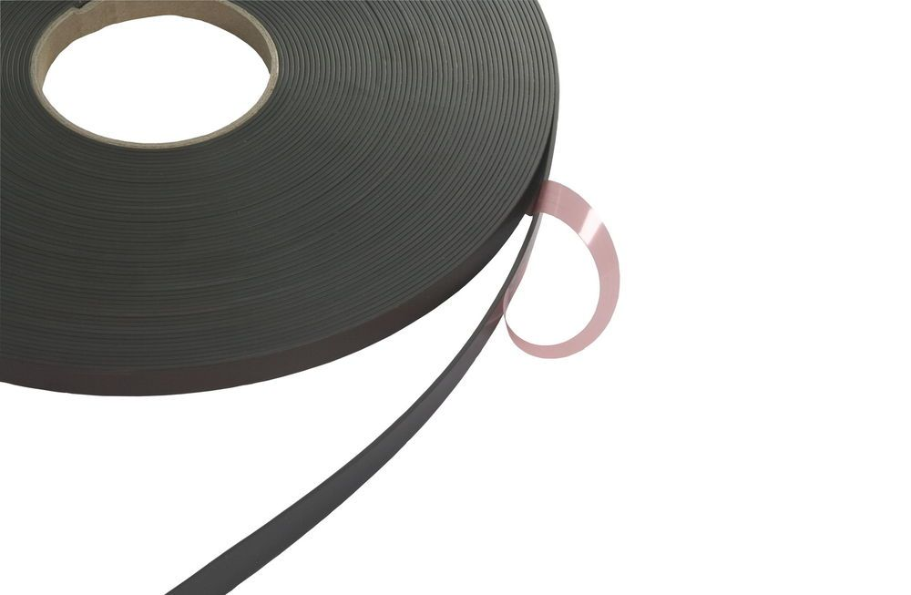 Self Adhesive Magnetic Tape Magnet Strip Craft Fridge Polarity A & B ...