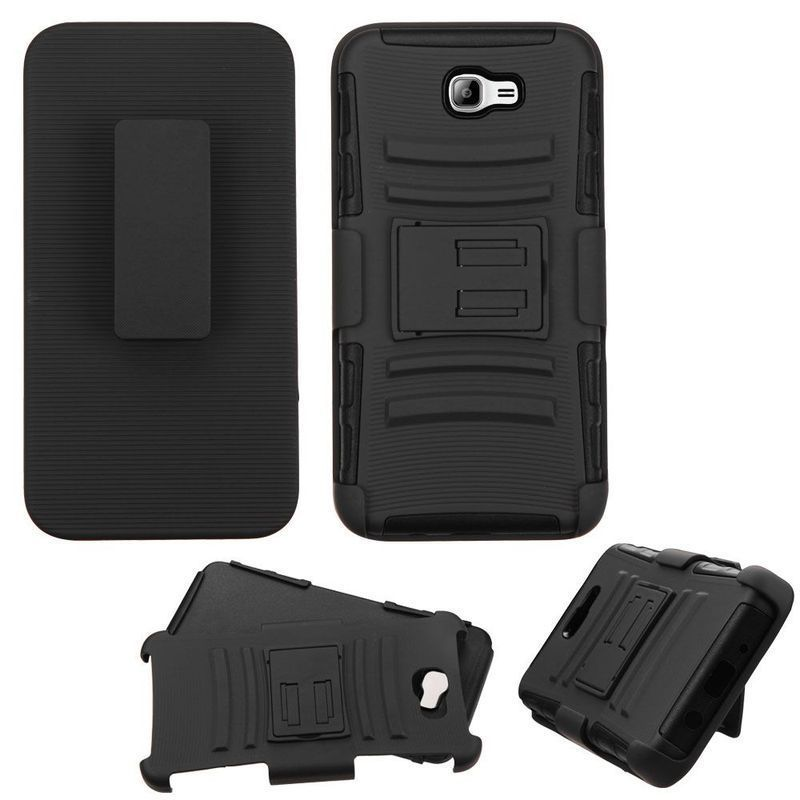 Insten Hard PC/ Silicone Dual Layer Hybrid Case Cover with Holster For Samsung Galaxy On7