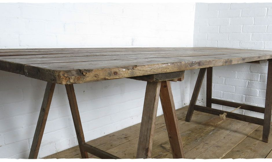 Beautiful Rustic Wooden Trestle Tables For Hire Vintage Dining Weddings Parties Events Available To Devon London And Somerset