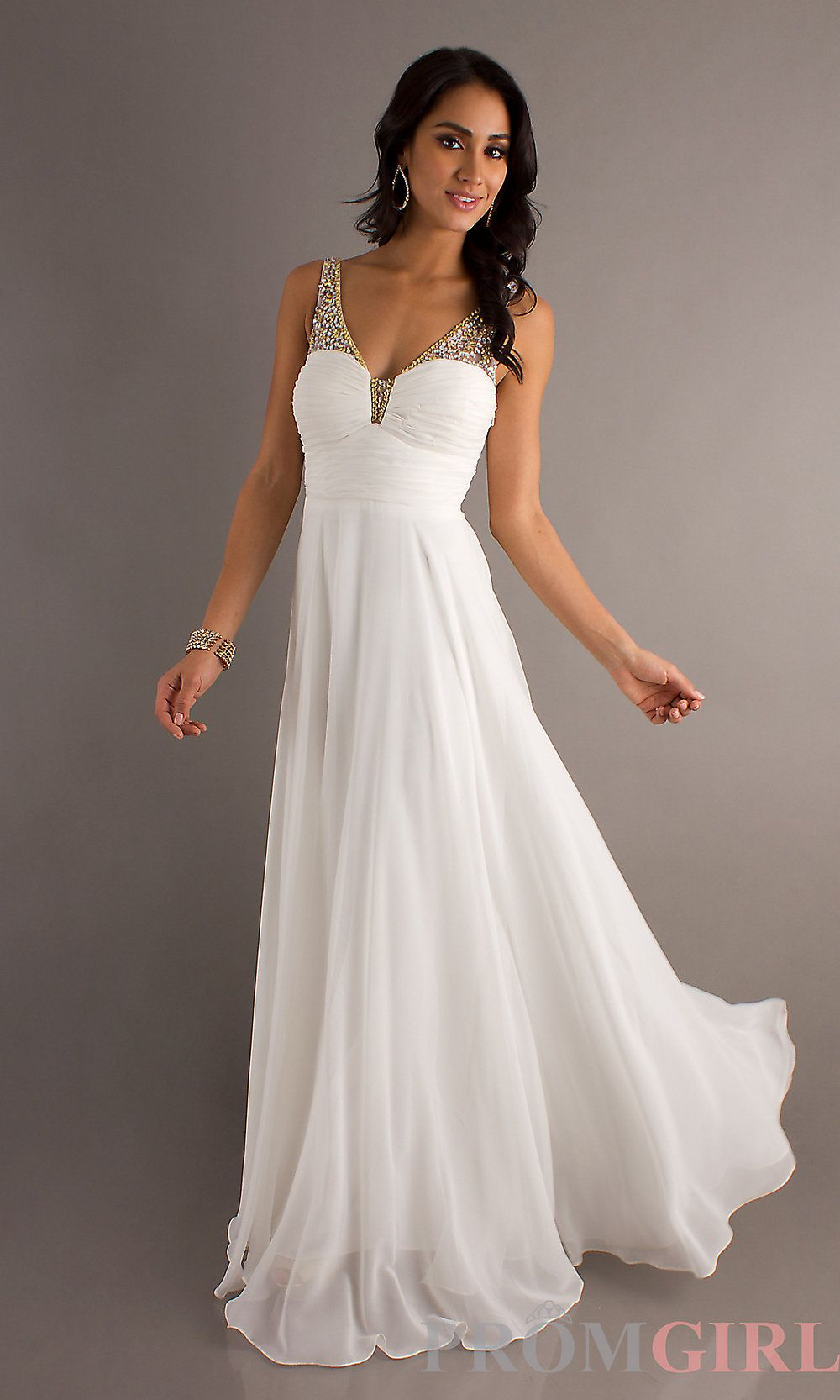 Ivory Dresses | Sleeveless Ivory Prom Gowns, Dave and Johnny Long ...