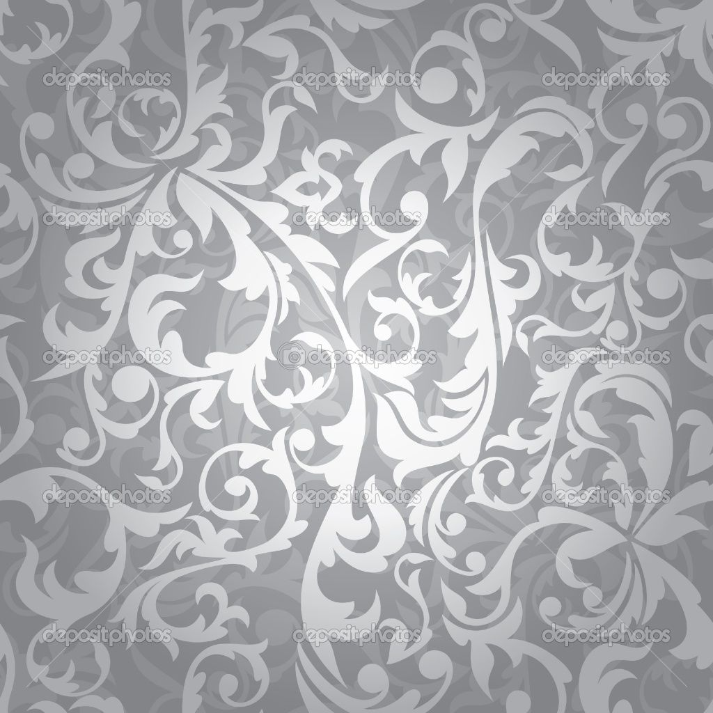 Silver Floral Wallpaper With Images Floral Background