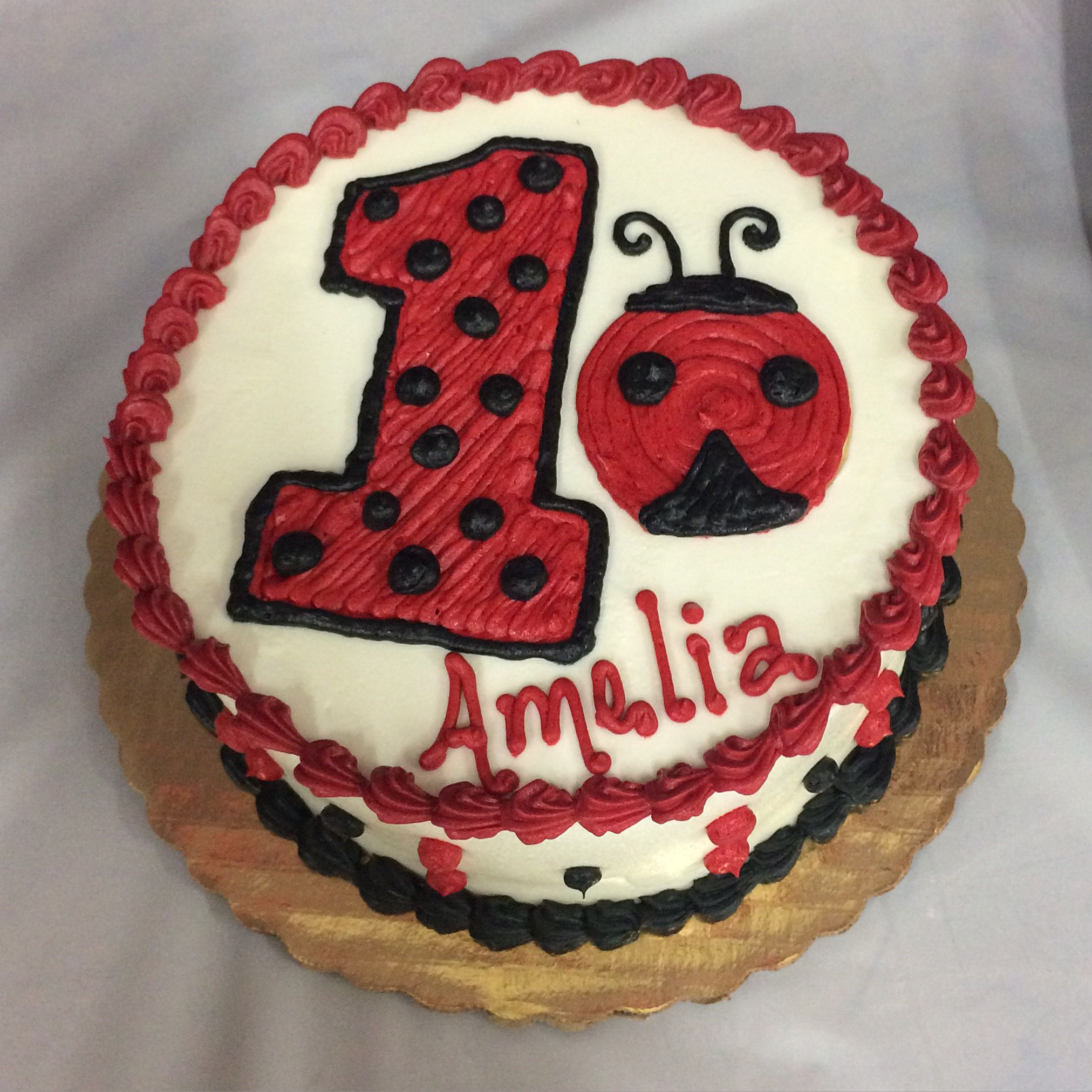Ladybug 1st Birthday Smash Cake Our Creations Pinterest