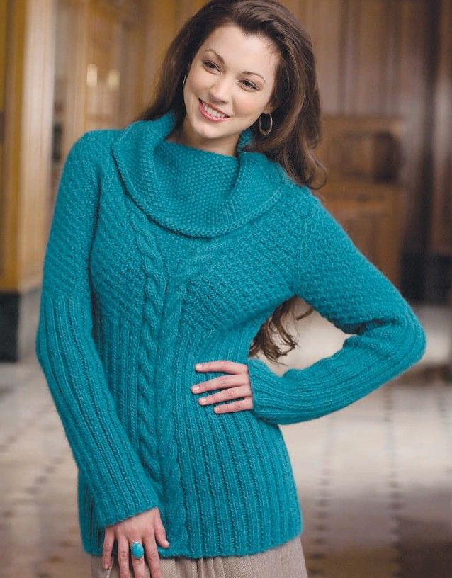 Knitting Pattern for Cowl Neck Cable Pullover - #ad Love the cowl ...