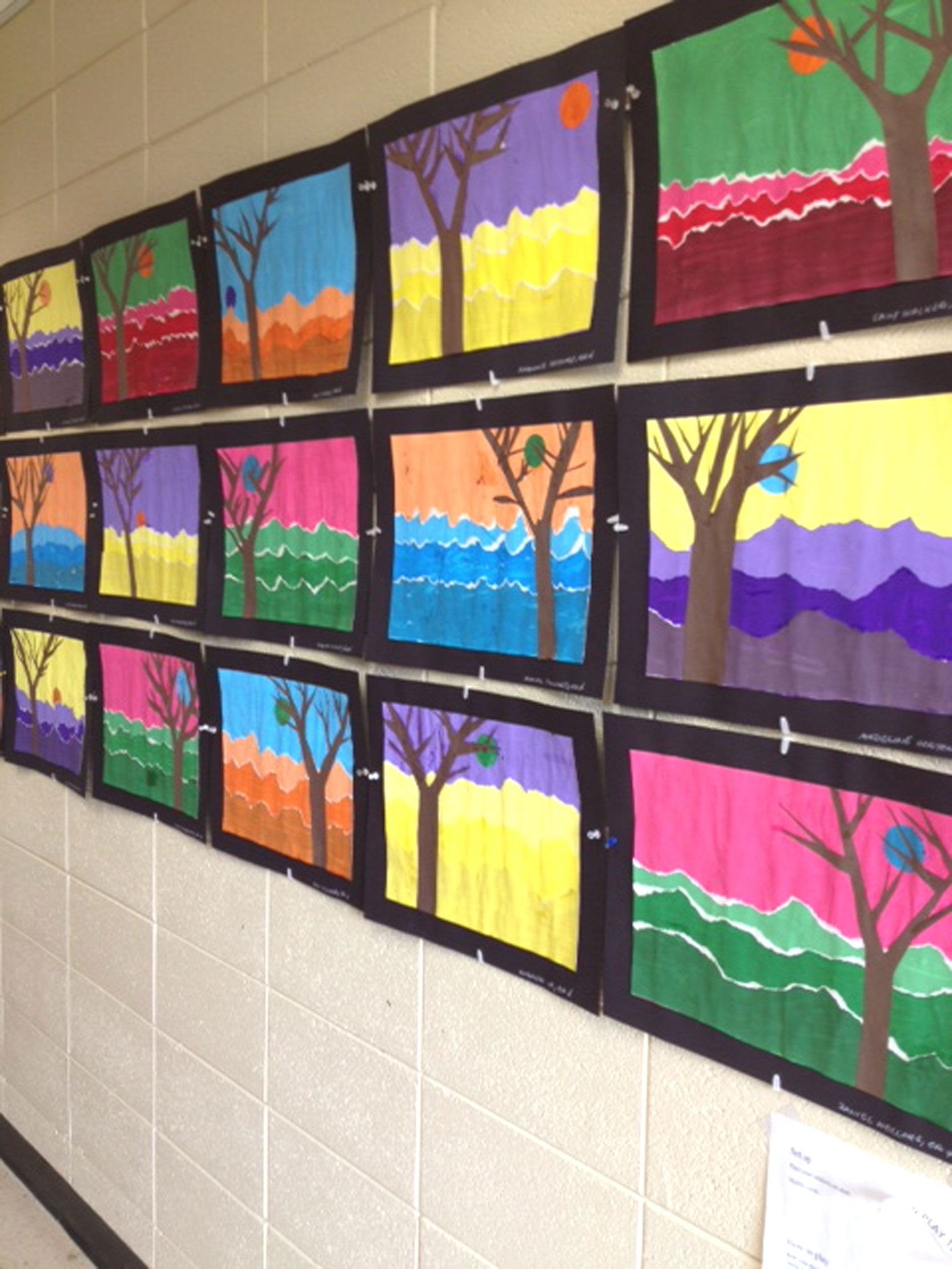 Landscapes: a study of color values and color compliments. Grade 4