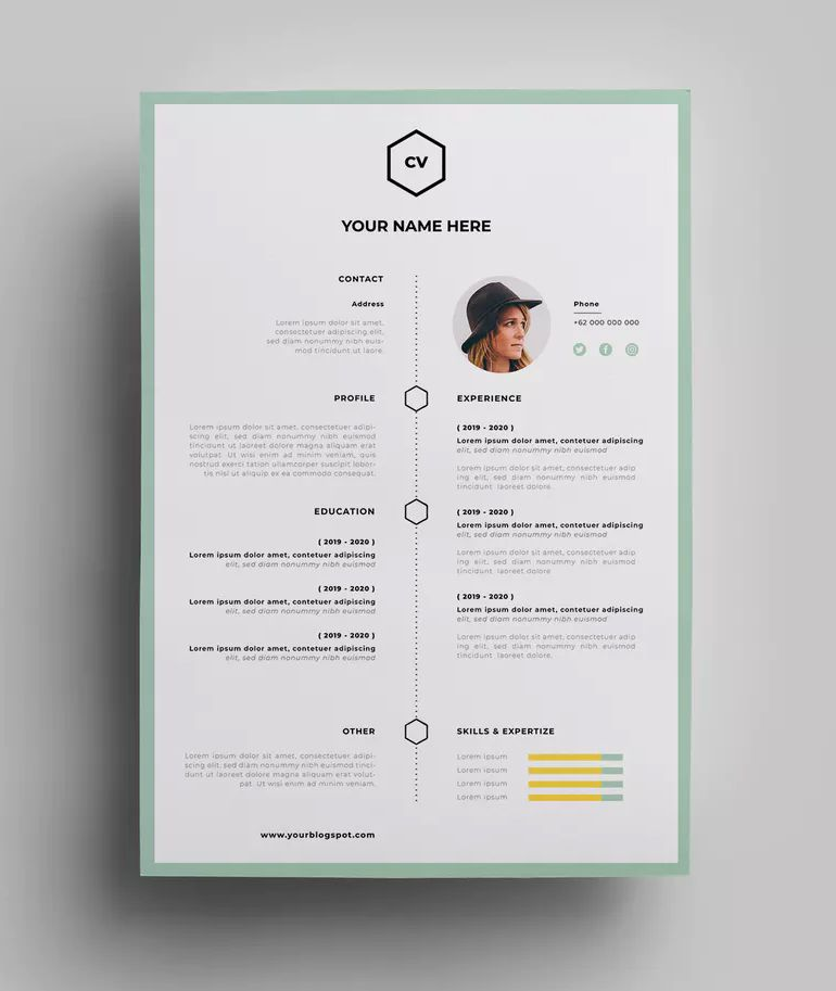 Epingle Sur Resume Cv Design Templates
