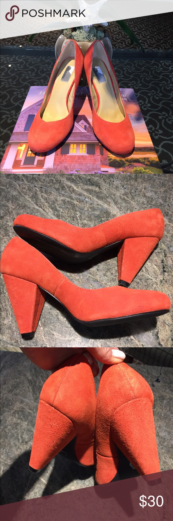 Urban Outfitters Tangerine Pin up Girl Heels Never worn outside worn a few times around the house beautiful condition NEW Urban Outfitters Shoes Heels
