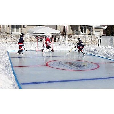 Arctic Backyard Ice Skating Outdoor Hockey Rink Kit ...
