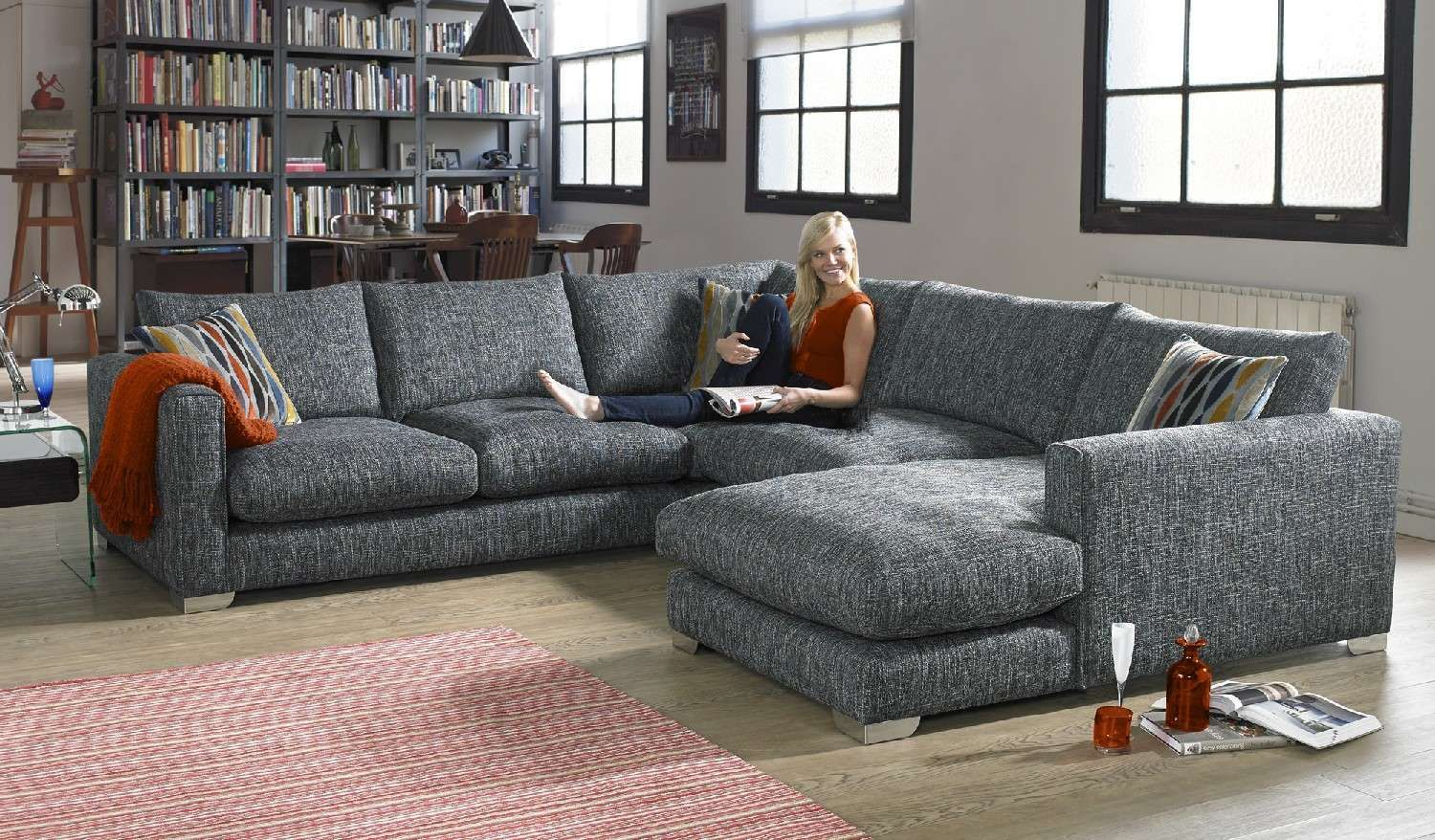 A wonderful modern corner sofa that fits with every day living, the ...