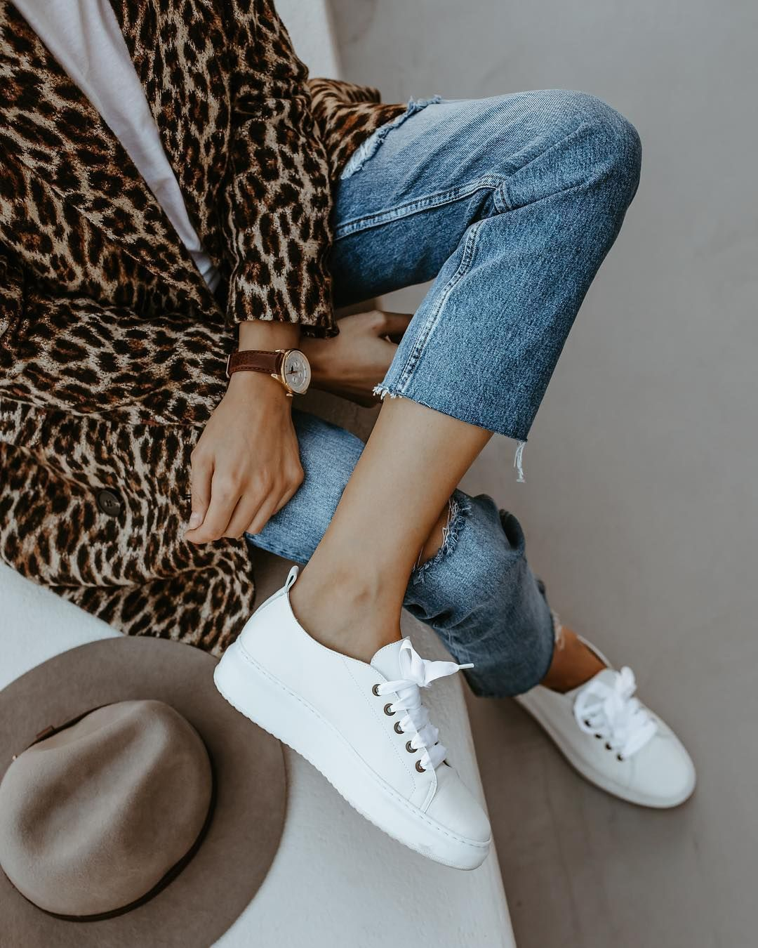 60d531a1 leopard print, white sneakers #Sneakers | Sneakers in 2019 | White ...