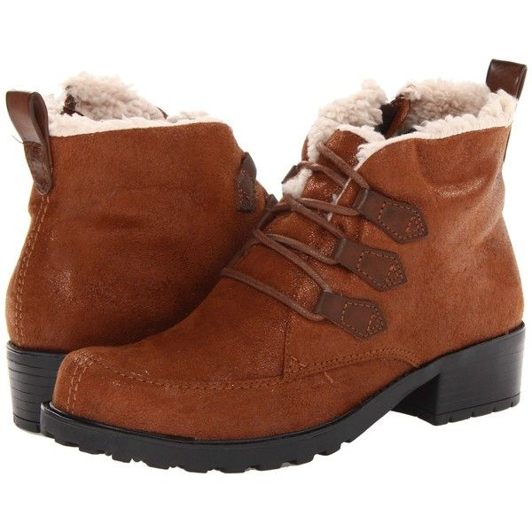 Trotters Snowflakes III (Cognac) Women's Lace-up Boots ($27) ❤ liked on Polyvore featuring shoes, boots, ankle boots, tan, laced up boots, short lace up boots, laced ankle boots, lace up bootie and lace up boots