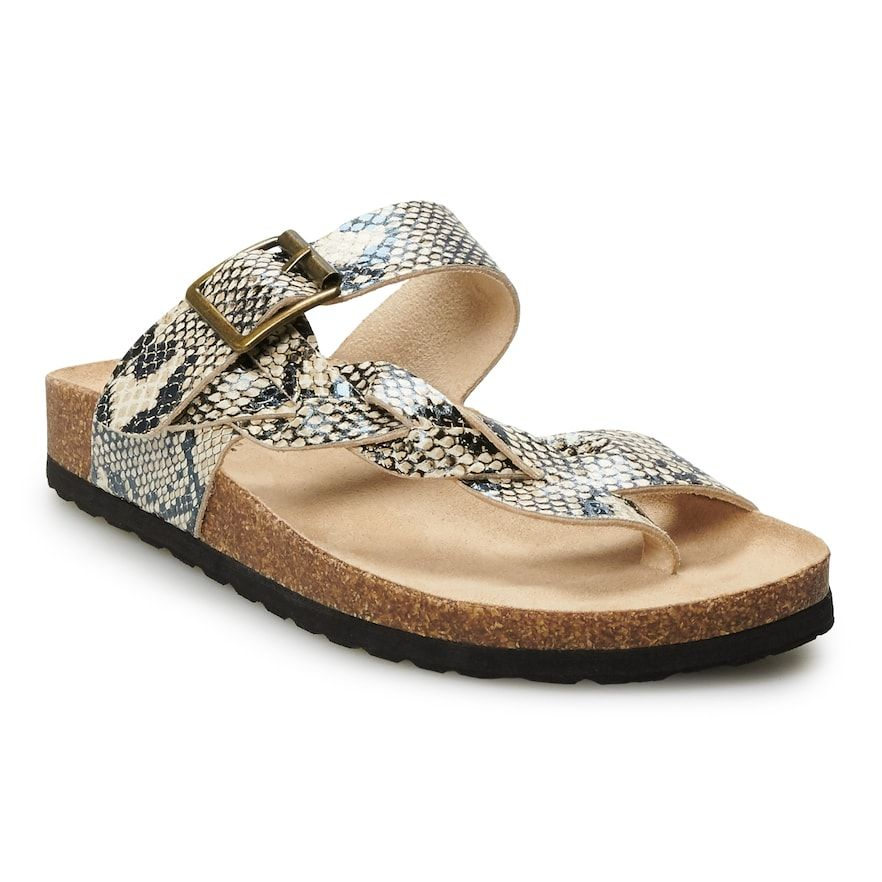 SONOMA Goods for Life® Airbrush Braided Women's Thong Sandals