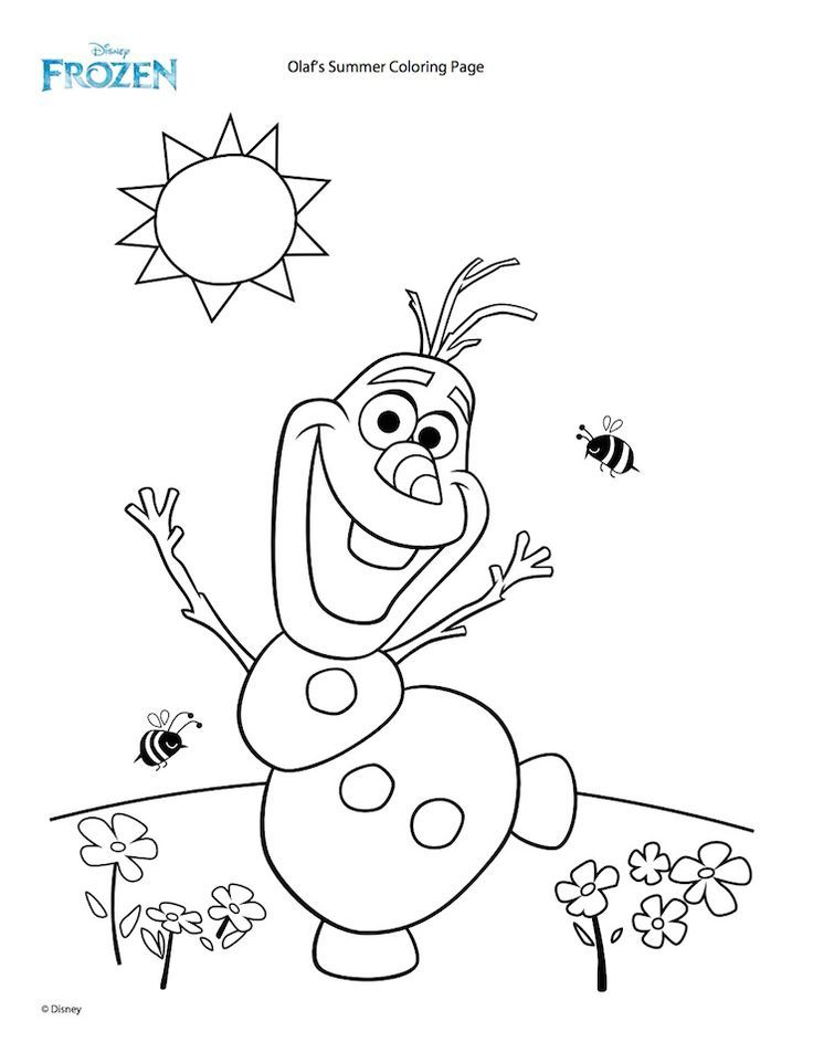 Olaf S Summer Coloring Page Disney Family Summer Coloring Pages Frozen Coloring Pages Frozen Coloring