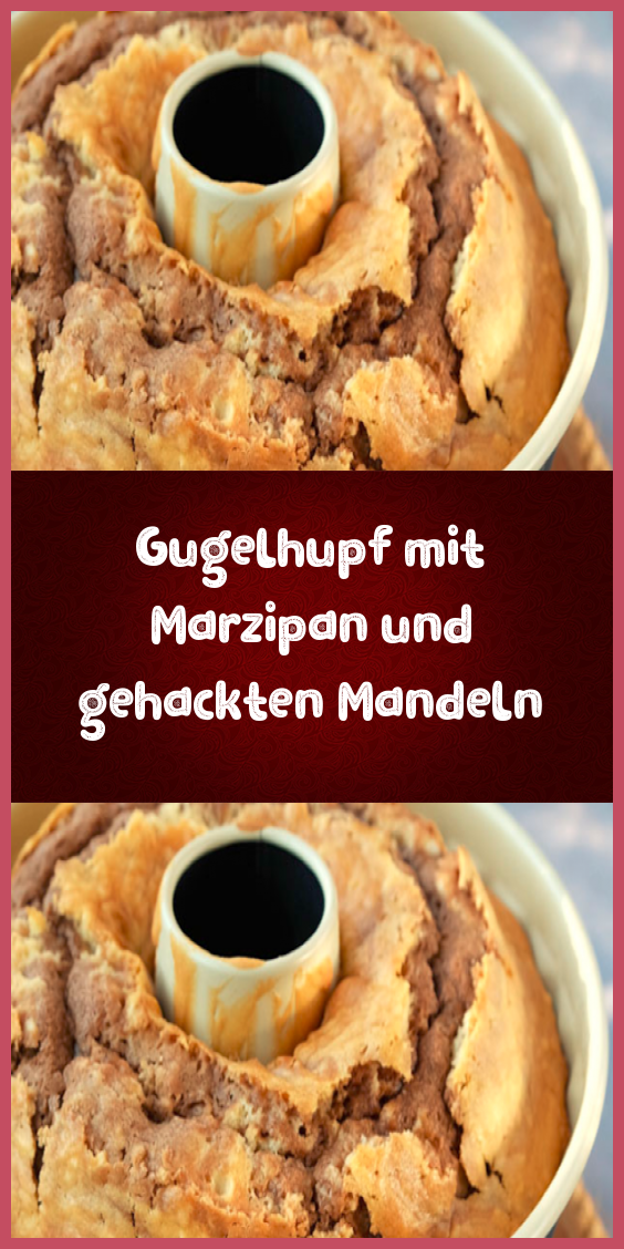 Gugelhupf mit Marzipan und gehackten Mandeln