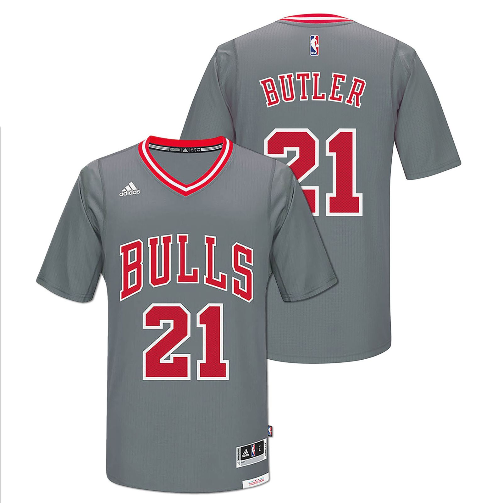 100% authentic 8673f 62148 Chicago Bulls Men's Grey Jimmy Butler Swingman Jersey with ...