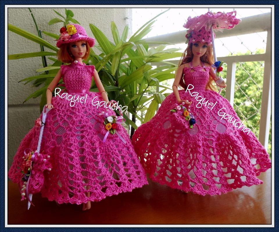 Cléa5 #Crochet #Barbie #Muñeca #Doll #Vestido #Dress #Purse Bolsa ...