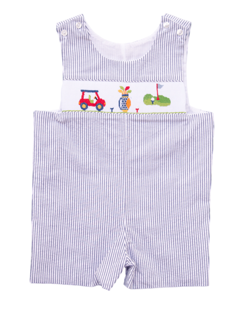 b30728bb8 Claire and Charlie Golf Smocked Toddler Baby Boy Shortall