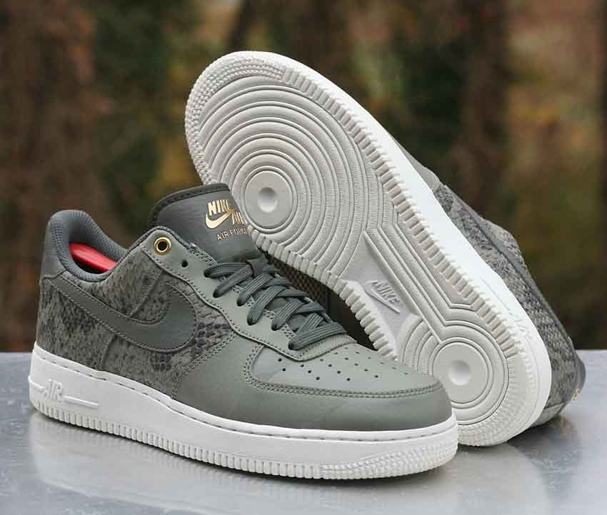 0b2e74fa153364 Nike Air Force 1 07 LV8 River Rock Dark Stucco White 823511-004 Men s Size  8  Nike  AthleticSneakers
