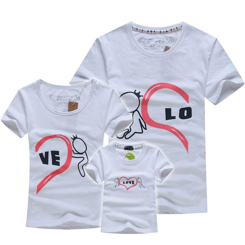 0913ce04d912 Cheap Algodón al por menor de Ropa de La Familia Camisetas Padre e ...