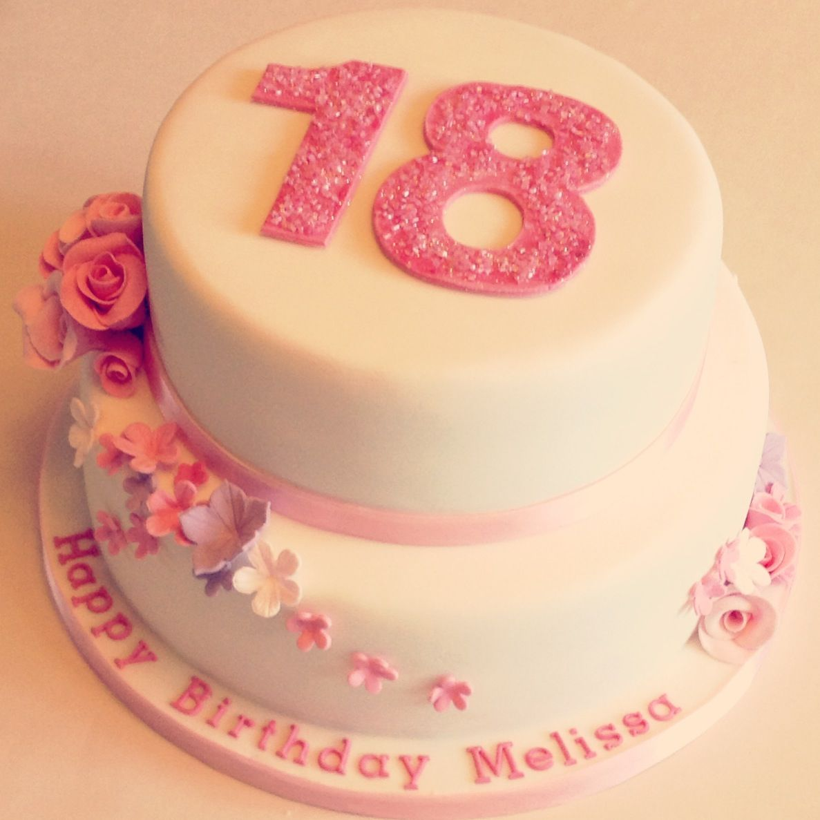 Floral 18th Birthday Cakes Make The Pink A Mint Green And It Would Be Perfection