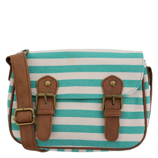 This cute crossbody bag from American Eagle features a canvas ...