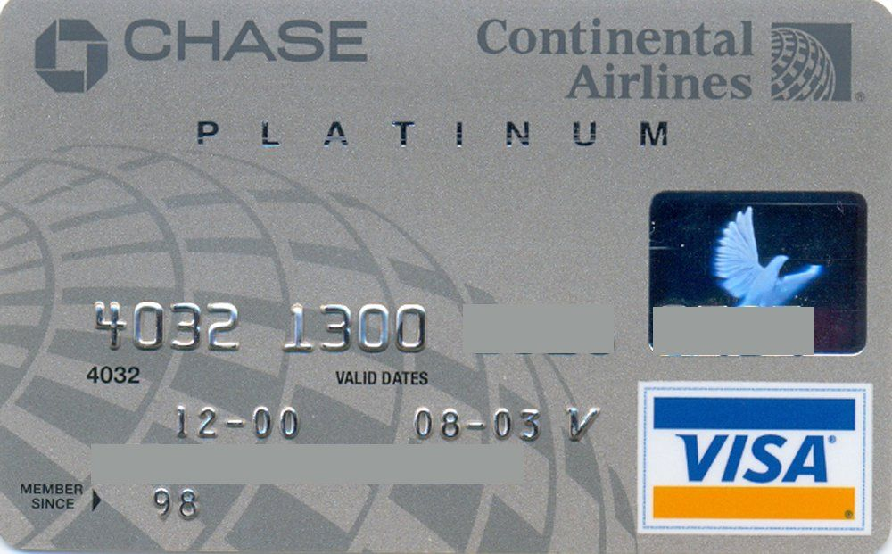 Continental Airlines Chase Platinum Chase United States Of America Col Us Vi 0376 Credit Card Design Bank Card Apple Store Gift Card,Video Game Designer Job Outlook
