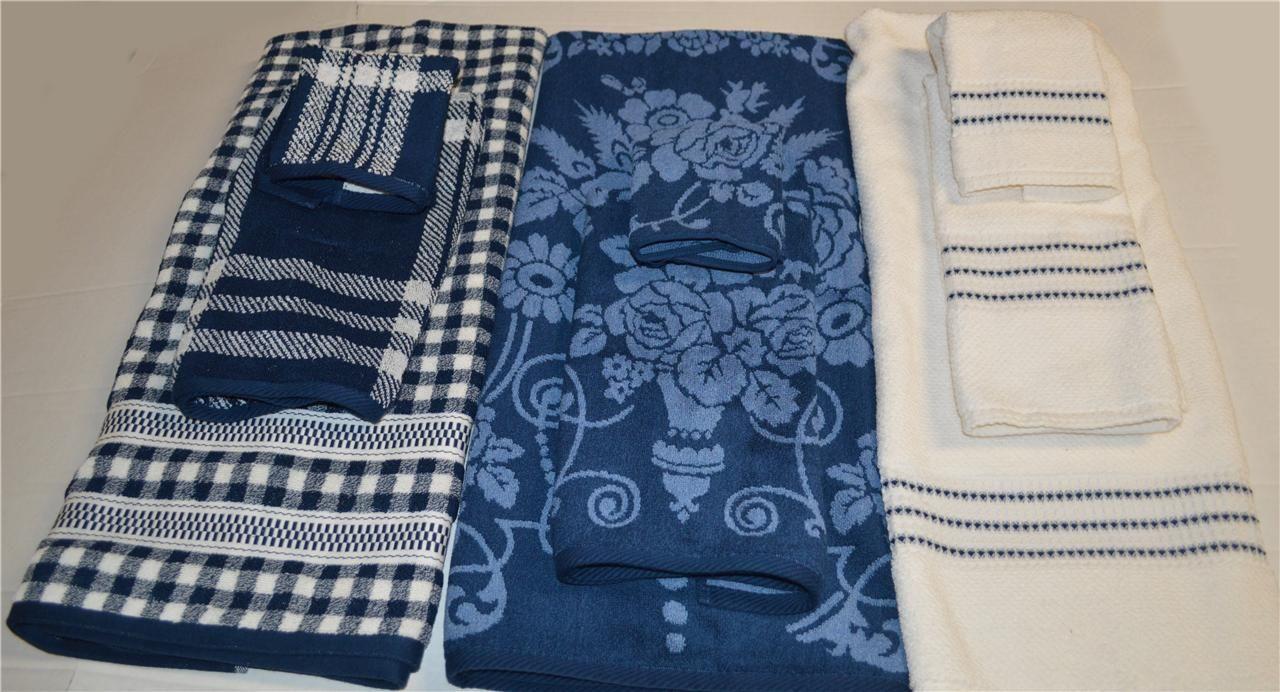 Ralph Lauren Talmadge Hill Blue Bath Towel Hand Towel or Washcloth ...