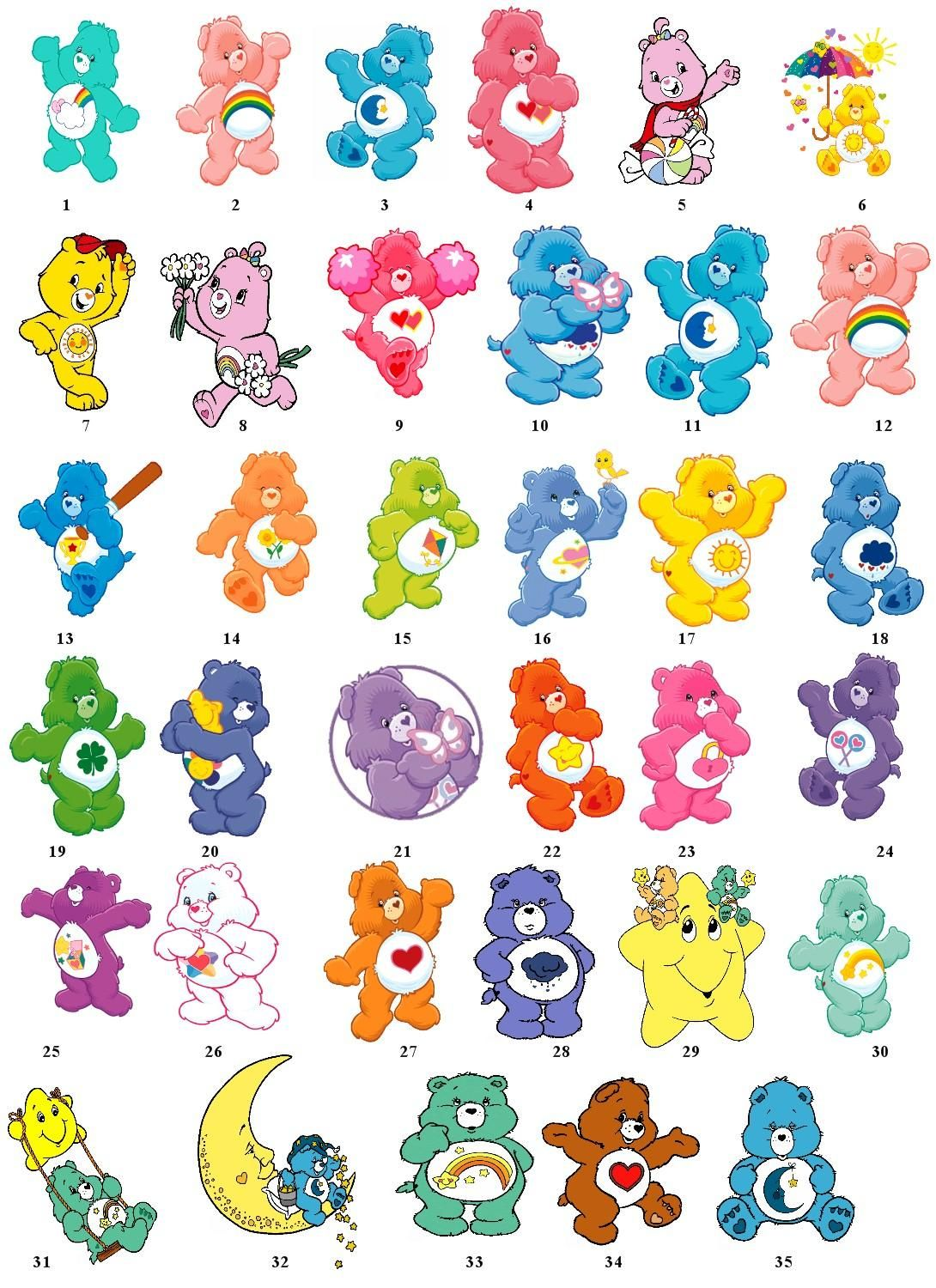The whole crew! Care Bears | Meet the Care Bears | Care ... - photo#4