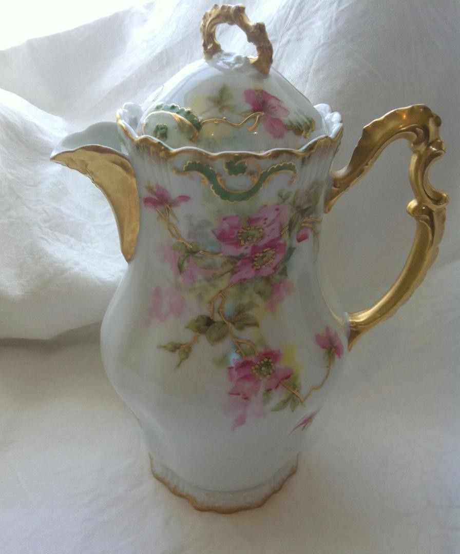Antique Limoges Coronet Chocolate Pot Double Mark Here is a ...