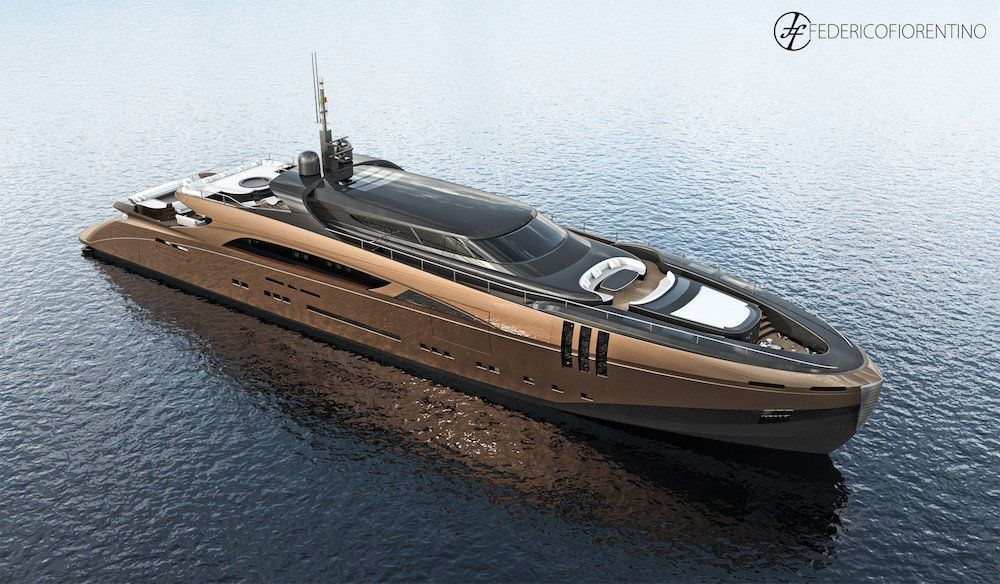 Superyachten concept  Federico Fiorentino Reveals 50-Meter Superyacht Concept Dubbed The ...