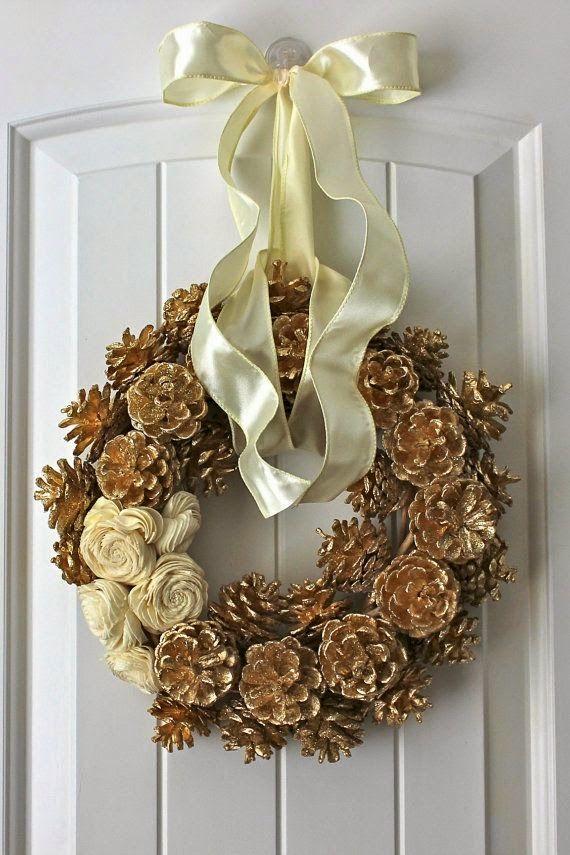 Adornos de navidad con pi as adornos de navidad adornos - Adornos de navidad hechos con pinas ...