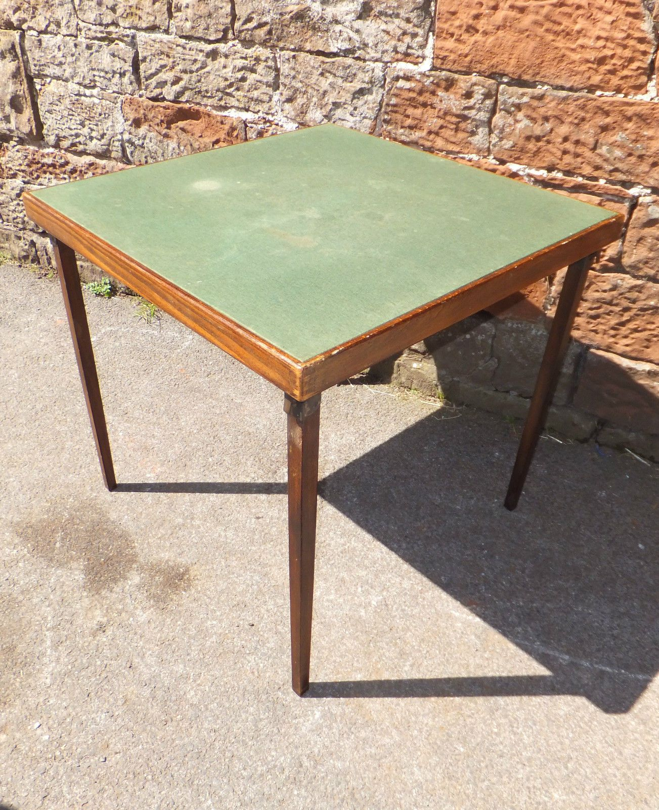 Vono Green Folding Card Table Thirty Inches Green Baize Square Top 29 99 Table Table Cards Table Games