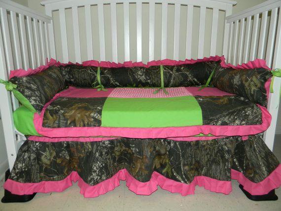 Pink Lime Green Camo Bedding Camo Baby Camo Baby
