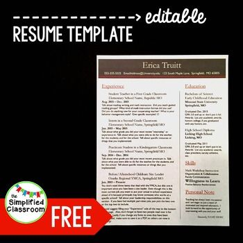 This is a resume template I made for a friend and wanted to share - resume templates free downloads
