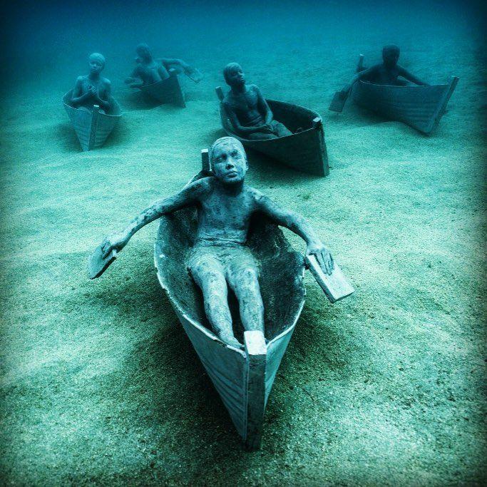 Lanzarote Underwater Museum In Spain First Underwater Museum In - Europes first ever underwater museum is full of hyperrealistic human sculptures