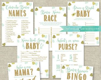 Pink And Gold Baby Shower Crossword Puzzle Game . Printable