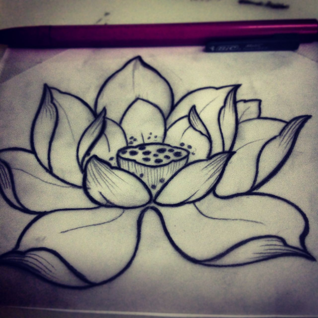 Beautiful lotus tattoo sketch Small Tattoo Ideas Pinterest