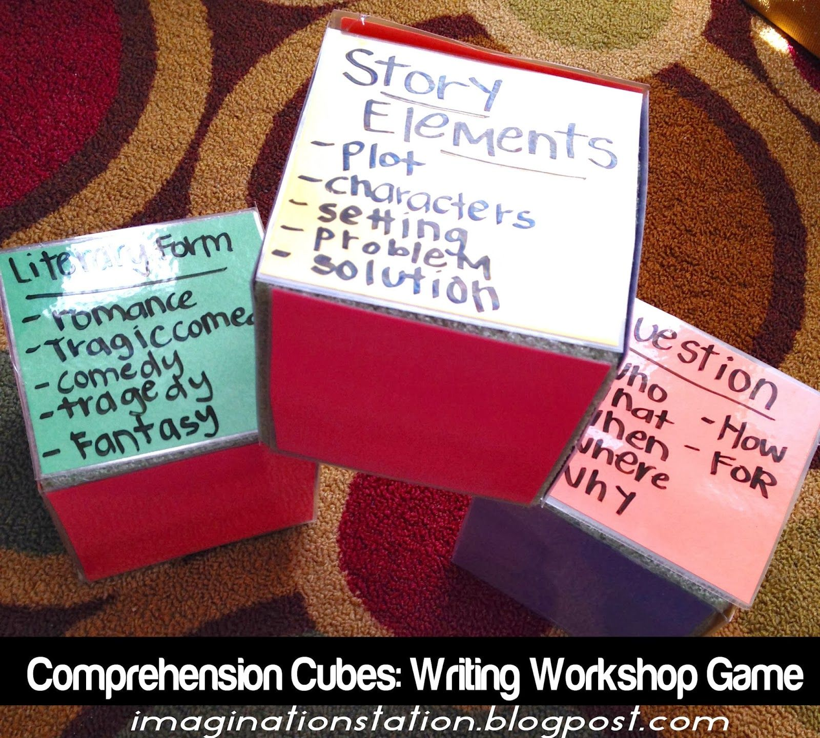 Comprehension Cube Literacy Centers Comprehension