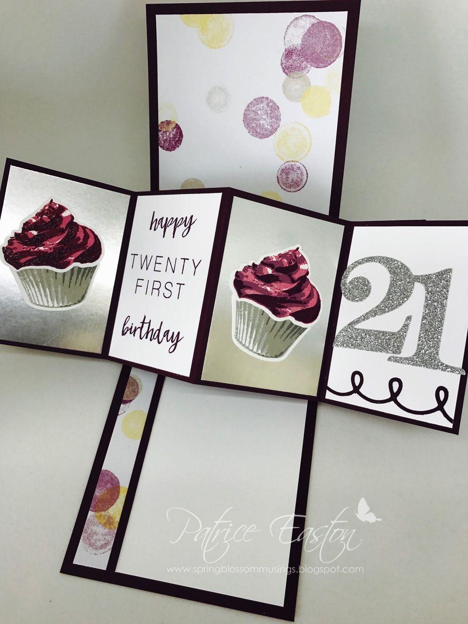 Twist Pop Stampin Up Birthday Spring Blossom Musings Twist Pop 21stbirthday Spri 21st Birthday Cards Diy 21st Birthday Cards Special Birthday Cards
